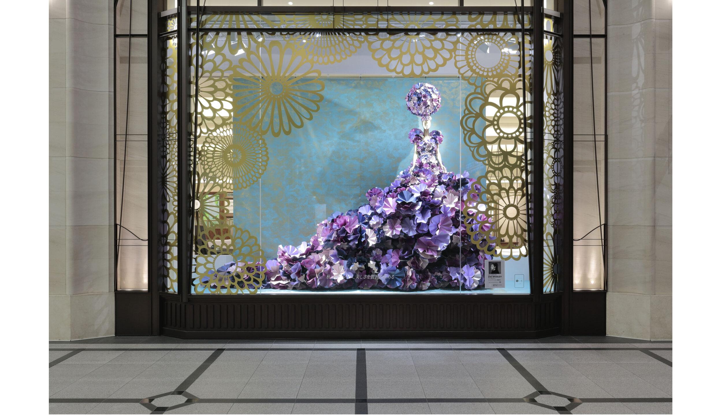 hankyu-window-display-zoebradleydesign-paperdress-fashion-paper-IWD