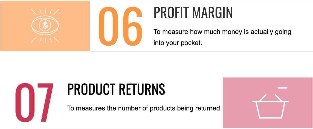 6&7 retail KPIs