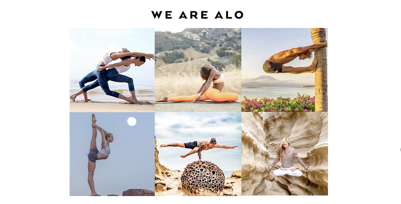 Alo Yoga website
